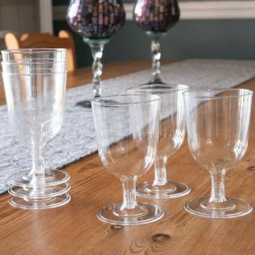 Clear Plastic Wine Glasses by Duni