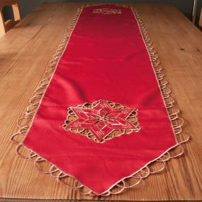 Red and Gold Christmas Table Runner - Astral