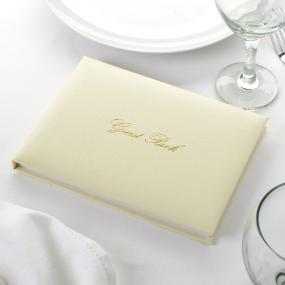 Guest Book - Ivory and Gold