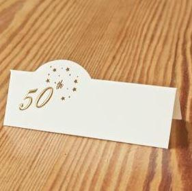 50th Birthday Place Cards x 12
