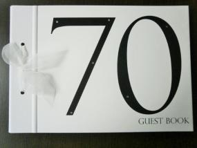 Black and White 70th Birthday Guest Book