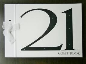 Black and White 21st Birthday Guest Book