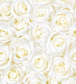 White Roses Linen Feel Tablecloth
