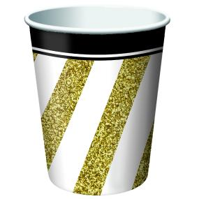 Black, Gold and White Paper Cups