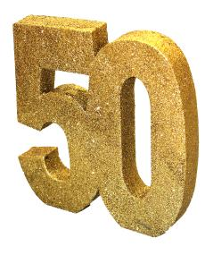 50th Golden Wedding Anniversary Table Decoration