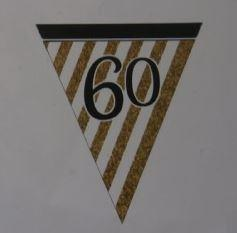 60th Birthday Paper Bunting - White, Black and Gold
