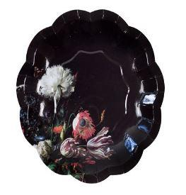 Party Porcelain Baroque Style Small Paper Plates
