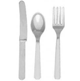 Silver Plastic Cutlery