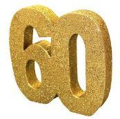 60th Birthday Gold Table Decoration