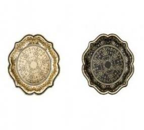 Party Porcelain Baroque Style Medium Paper Plates