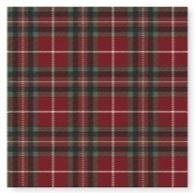 Red and Green Tartan Lunch Napkins