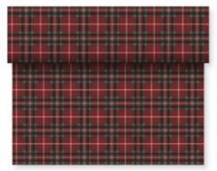 Red and Green Tartan Paper Table Runner