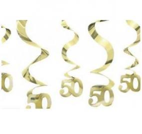 50th Golden Wedding Anniversary Swirls