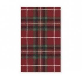 Red and Green Tartan Paper Table Cover