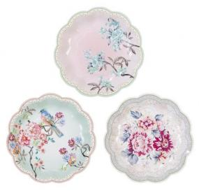 Truly Romantic Paper Tea Plates
