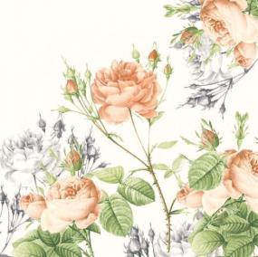 Rose Garden Linen Feel Dinner Napkins