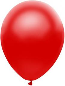 Pearl Red Latex Balloons Pack 25