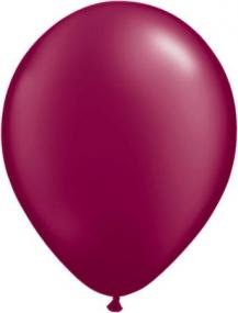 Pearl Burgundy Latex Balloons Pack 25