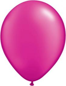 Pearl Magenta Latex Balloons Pack 25