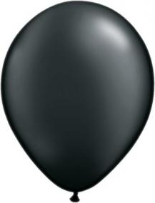 Pearl Black Latex Balloons Pack 25